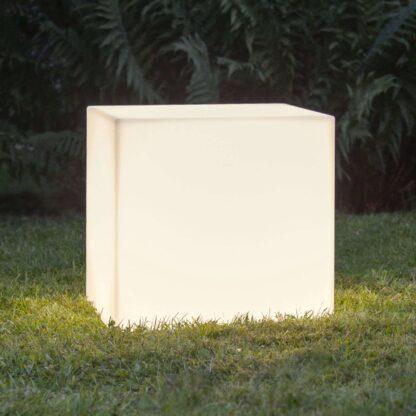 Terrasslampa Gardenlight, kub, 38 cm