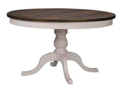 Nottingham matbord runt 130 grå