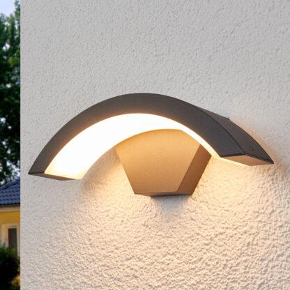 Böjd LED-utomhusvägglampa Jule