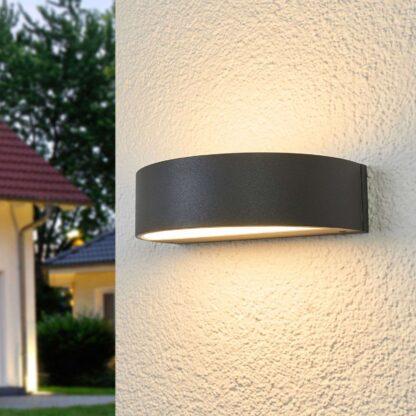 Bega – halvrund LED-utomhusvägglampa 33325K3