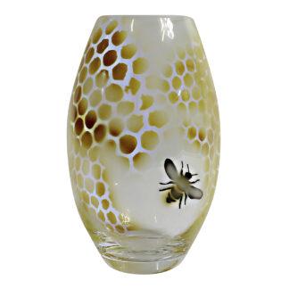 Honeycomb Vas 20 cm Gul