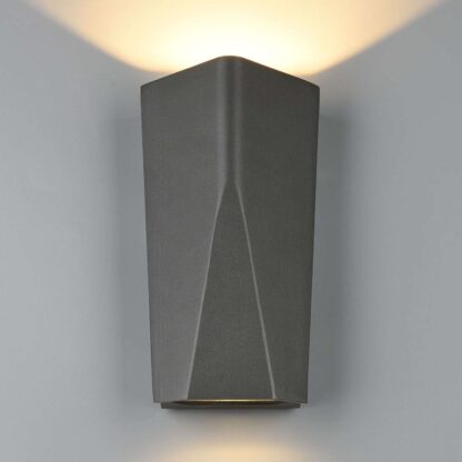 LED-utomhusvägglampa Tay i aluminiumgjutgods
