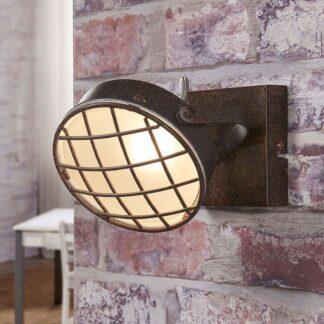 Rostfärgad LED-vägglampa Tamin, industristil