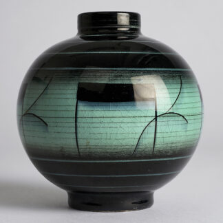 SÅLD Vintage Serie V Vas Flintgods 11 cm