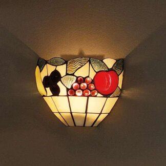Vägglampa AMIRA i Tiffanystil