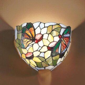 Vägglampa VIKTORIA i Tiffany-look