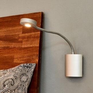 Justerbar vägglampa Adina med LED-flexarm