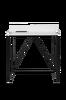 Skrivbord TELL 120 vit/svart