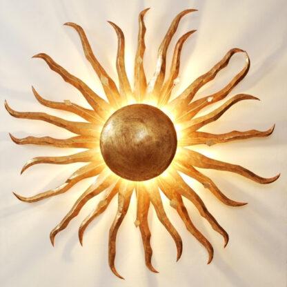 Förtrollande vägglampa Sonne Gold Ø 70 cm