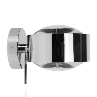 LED-vägglampa Puk Maxx Wall+, krom