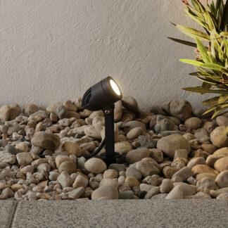 Timko – svart LED-markspettspotlight, IP65