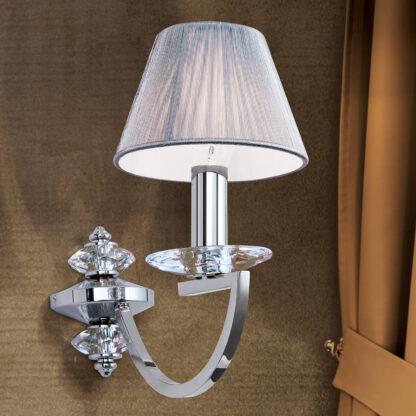 Vägglampa Avala med kristallapplikationer