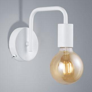 Vägglampa Diallo utan skärm vit matt
