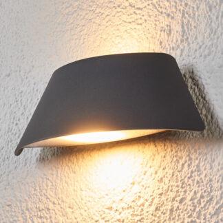 Trapetsformad LED-utomhusvägglampa Glen med IP65